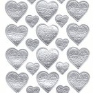 Korea Silvery Heart Sticker KAWAII