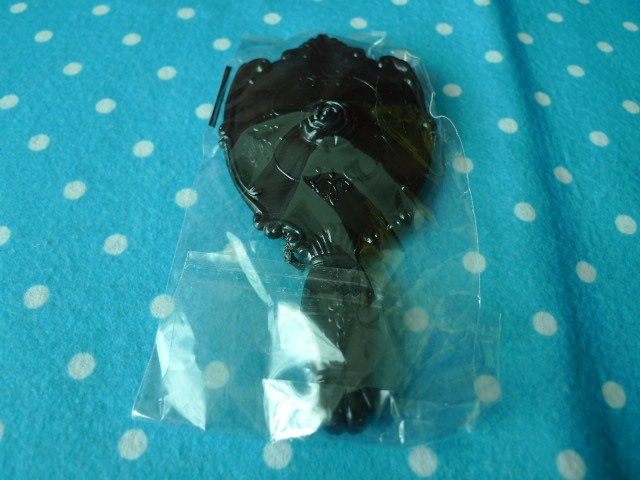 Korea black rose hand mirror