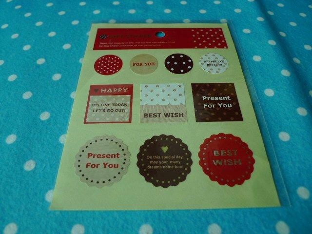 Polka Dots Gift Sticker KAWAII