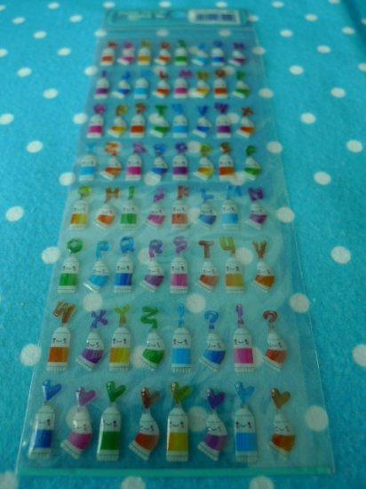 Japan Pastel Colour Jelly Sticker KAWAII