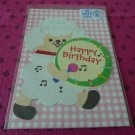 Taiwan Sheep w/ Drum Pull Birthday Card KAWAII