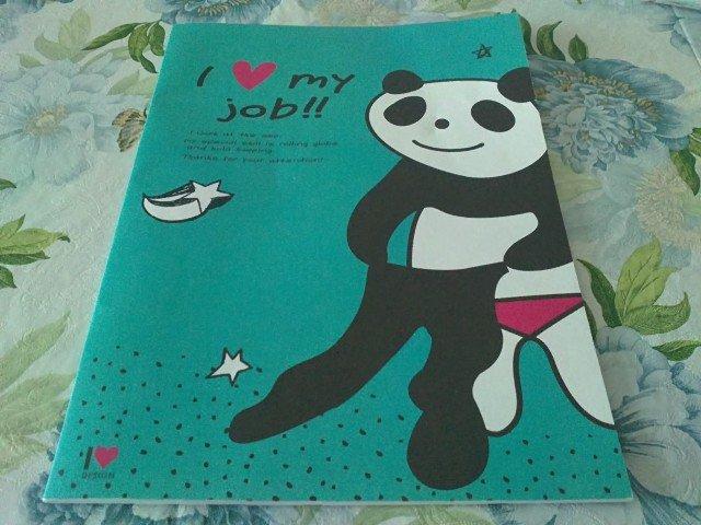 Taiwan Panda I LOVE MY JOB NoteBook KAWAII