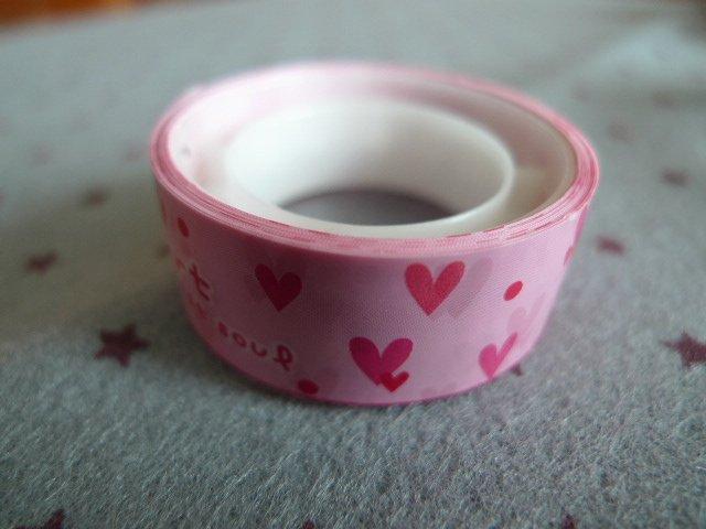 Japan Pink Heart Deco Tape KAWAII