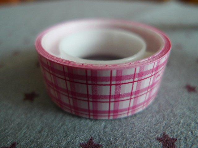 Japan Pink Plaid Deco Tape KAWAII