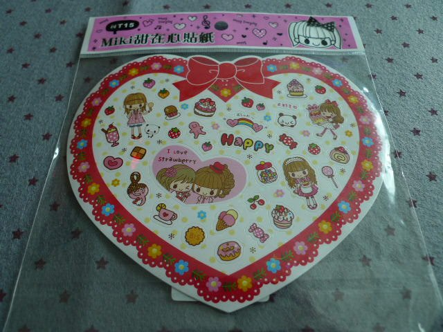 Taiwan Miki Strawberry & Sweet Sprarly Sticker KAWAII