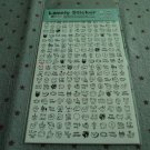 Korea Panda Schedule Sticker (2 sheets set) KAWAII (A)
