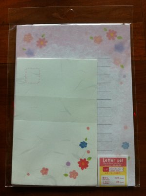 JAPAN Traditional Flowers Lettersets Pack KAWAII