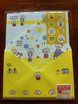 JAPAN Moshi Moshi Bear Lettersets Pack KAWAII