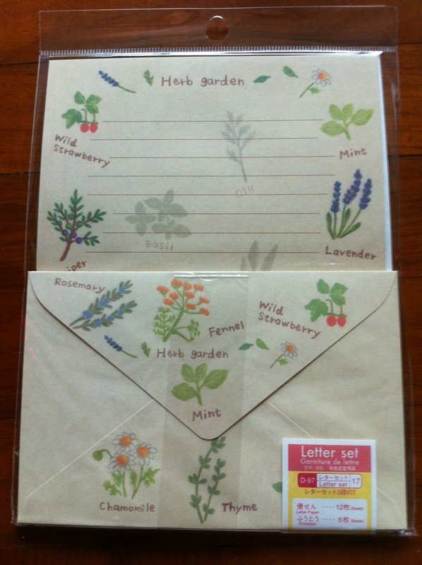 JAPAN Herb Garden Lettersets Pack KAWAII
