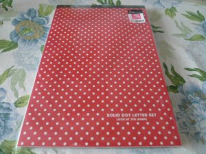 Korea Polka Dots Large Letterpad KAWAII