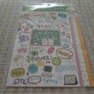 Korea Study Hour Glittery Sticker KAWAII