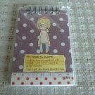 Korea Girl w/ Brown Polka Dots Small Notebook KAWAII