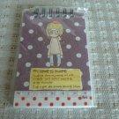 Korea Girl w/ Brown Polka Dots Small Notebook KAWAII