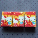 3x Japan Sanrio Hello Kitty Dear Daniel New Year Tissue Packs KAWAII