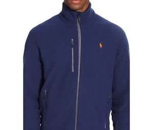 NWT Polo Ralph Lauren Men's Micro Fleece Zipper Track Jacket NAVY XXL Orig. $135