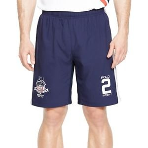 NWT Ralph Lauren Polo Sport USA Soccer Compression Short LARGE NAVY Orig $69.50
