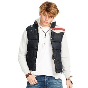Denim & Supply Ralph Lauren Men's Denim Down Fill Vest SMALL MSRP $198 NEW W TAG