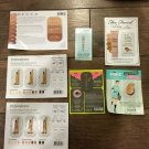 Assorted 7 pc. Popular Makeup Foundation/Primer Sample Cards NEW