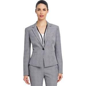 Ellen Tracy Glen Black/White Plaid One Button Jacket NEW W TAG Retail $149