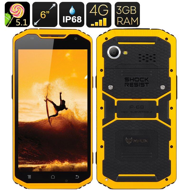 MFOX A10 Pro Military Standard Smartphone(YELLOW)