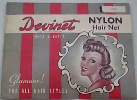 Vintage Devinet Nylon Hair Net Grey Gray 1940's or 1950's ?