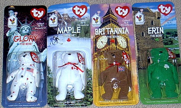 Beanie Babies Set of 4 Ronald McDonald House Charities