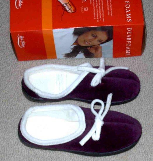 Dearfoams Womens Purple Slippers Size 7