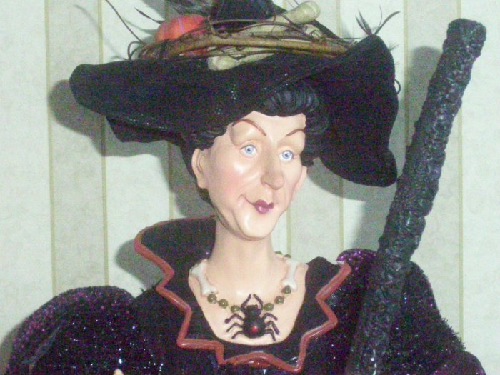 Halloween Diva Witch With Broom