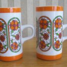 Retro Orange Chocolate or Coffee Mugs