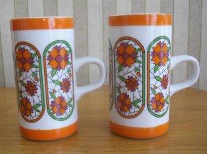 Retro Orange Chocolate or Coffee Mugs
