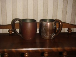 Antique Matching Chase Copper cups