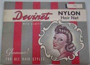 Vintage Grey Devinet Nylon Hair Net