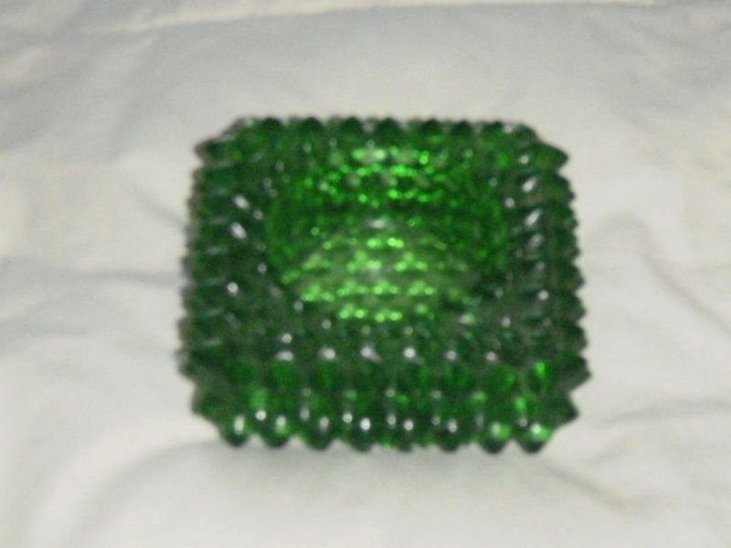 Glass Ashtray With P