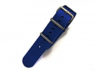 NATO G10® Blue Solid EDGE� Ballistic Nylon Watchband Watch Strap