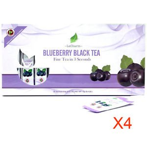Blueberry Black Tea 20 Sachets Gift Box Set Quantity of 4 pk