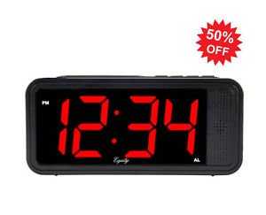 EspyMall WiFi Alarm Clock Hidden Camera Perfect For Indoor East to Set Up