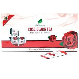Rose Black Tea Extract Powder 20 Sachets Ready to Brew Antioxidant Anti-aging