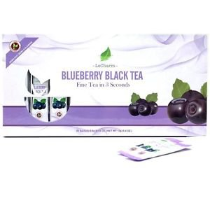 Blueberry Black Tea Powder 20 Sachets Box Set Helps Vision Health