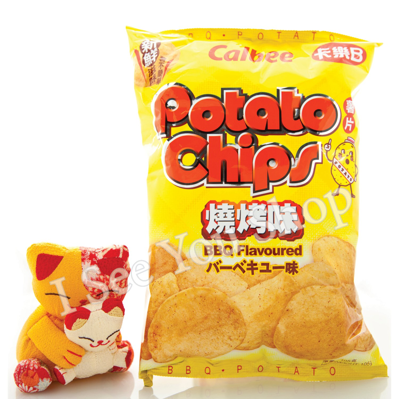 ��B ����� Calbee BBQ Flavored Potato Chips 105g