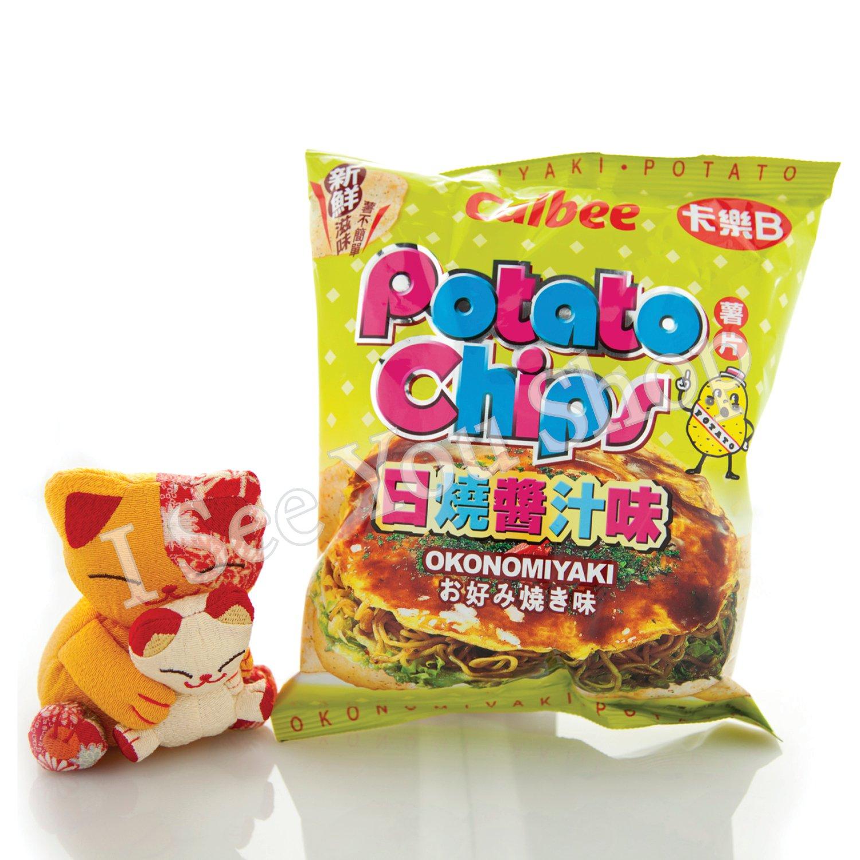 ��B ������� Calbee Okonomiyaki Flavored Potato Chips 55G
