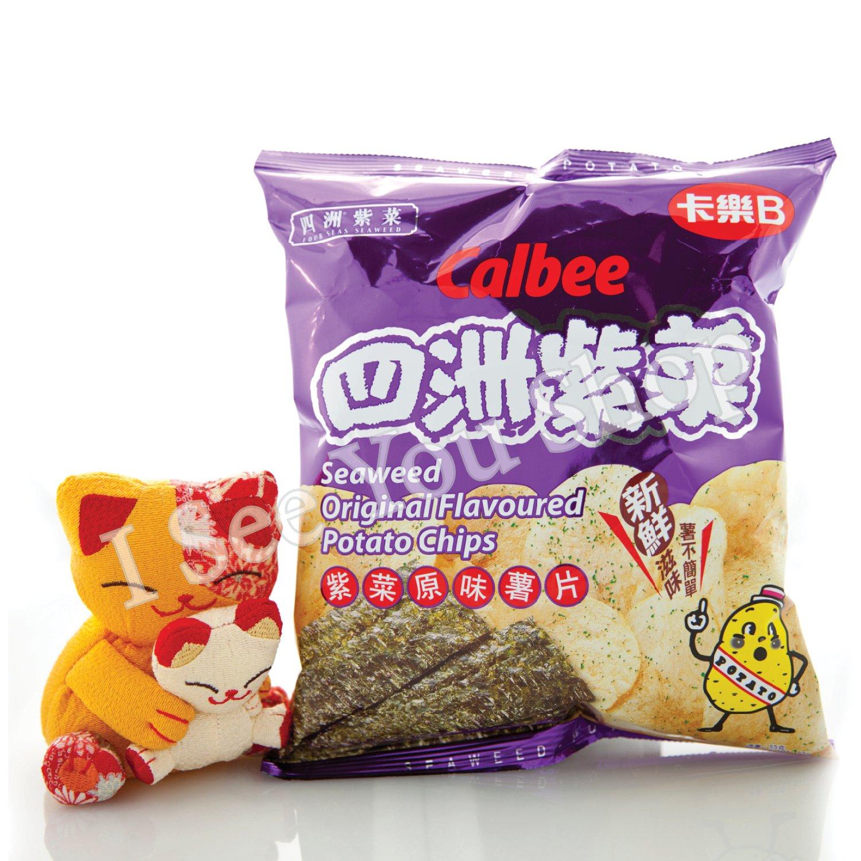 ��B �洲紫���� Calbee Four Seas Seaweed Original Flavored Chips 55G