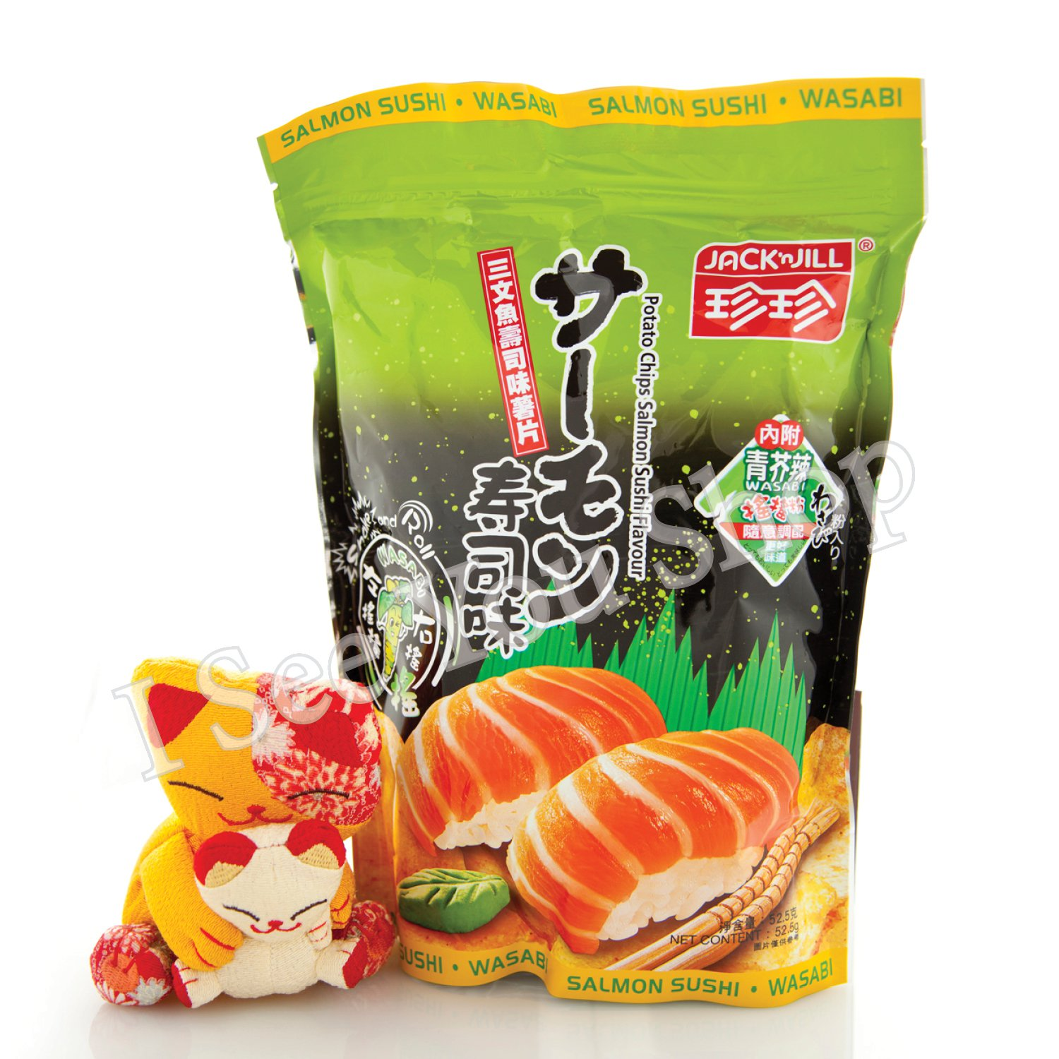 �����壽���� Jack'n Jill Salmon Sushi Wasabi Flavored Potato Chips 52.5g