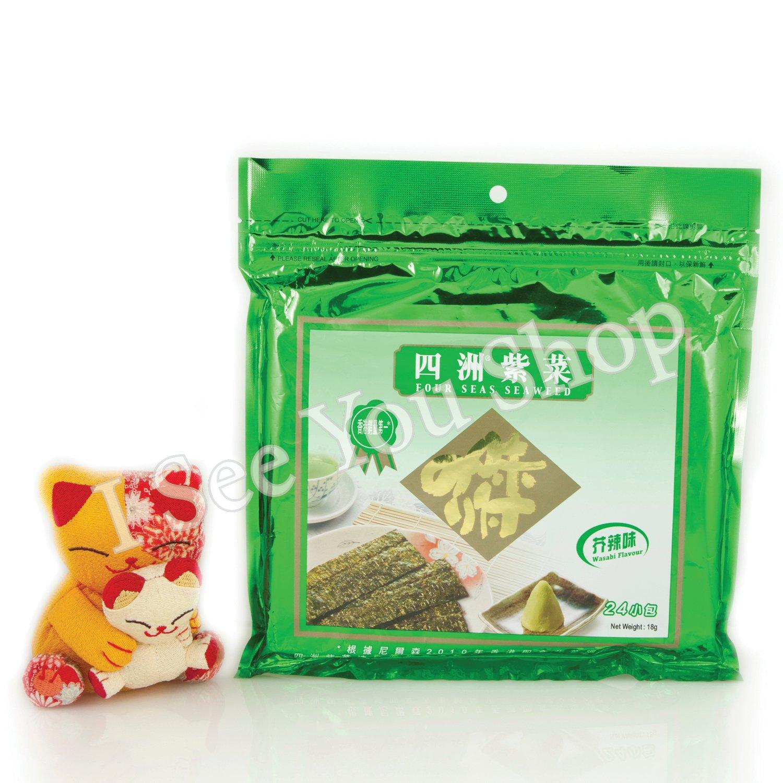 �洲紫�(�辣�) Four Seas Seaweed Wasabi Flavor 18g