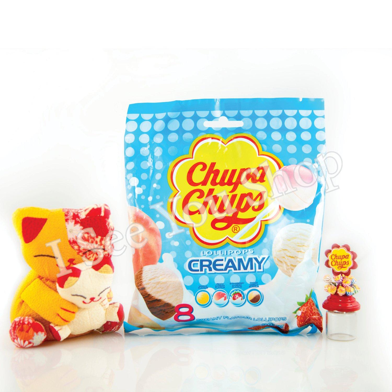 �寶� 奶���� Chupa Chups Assorted Creamy Flavor Lollipops (8 Lollipops) 96g