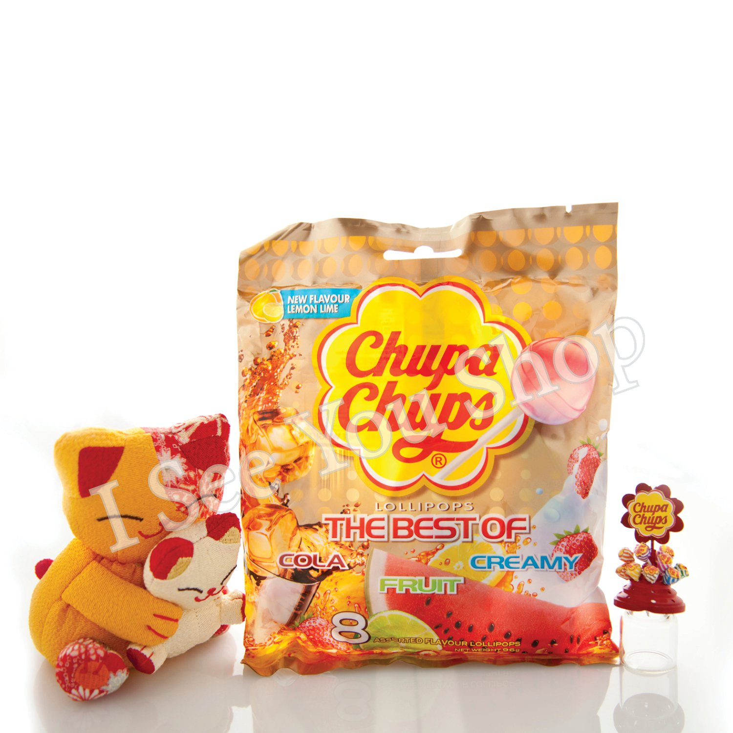 �寶� ����� Chupa Chups Assorted Flavor Lollipops (8 Lollipops) 96g