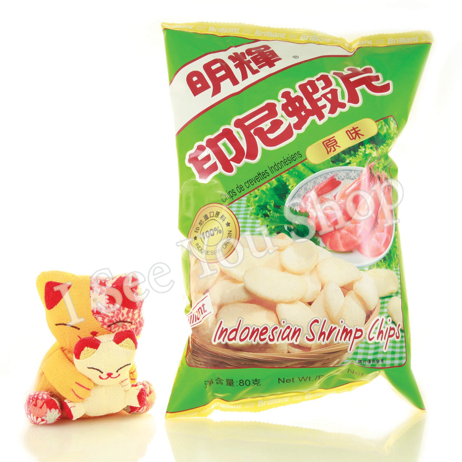 ���尼�� �� 80g Brilliant Indonesian Shrimp Chips Original Flavour 80g