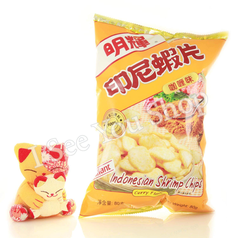 ���尼�� ��� 80g Brilliant Indonesian Shrimp Chips Curry Flavour 80g