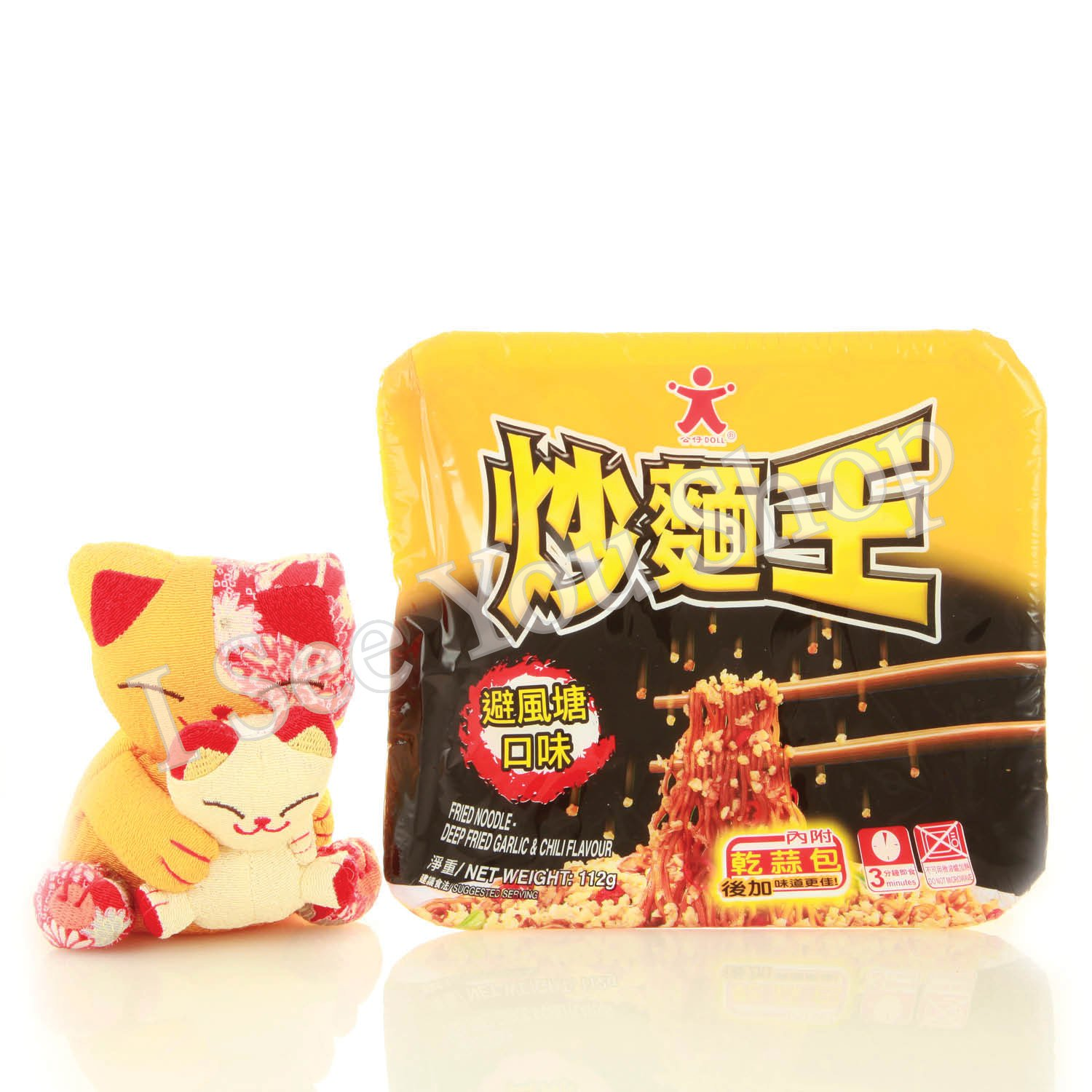 ���麵� �風��� 112g Doll Fried Noodle Deep Friend Garlic & Chili Flavour 112g