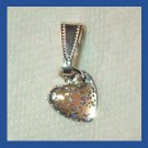 Sparkling Tiny Glitter HEART Sterling Silver Pendant