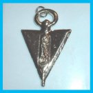"Vintage Arrow Shaped with a Scrolled ""S"" Silver plated Pendant"